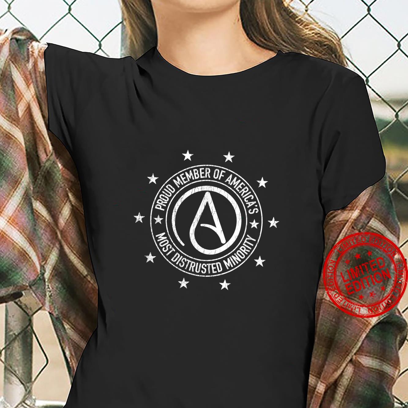AntiReligion Humor Atheism Symbol Atheist Shirt ladies tee