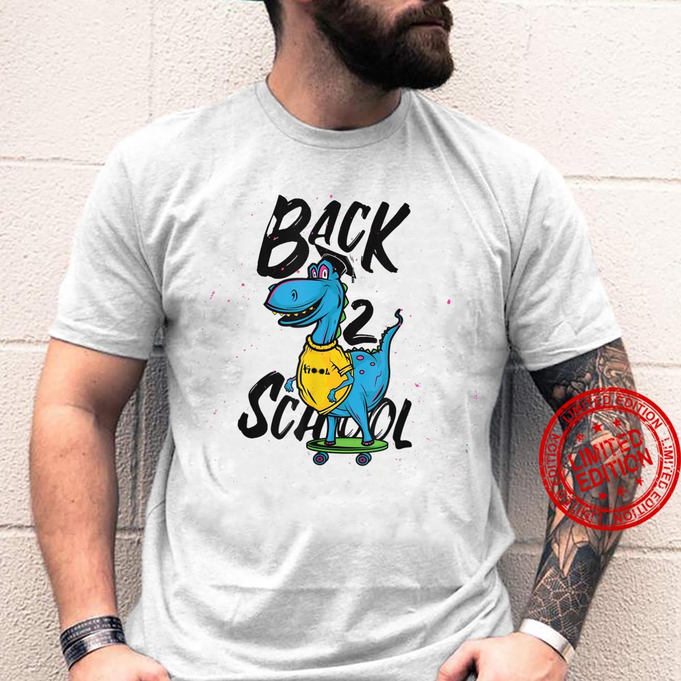 Back to School Skating Dinosaur Shirt