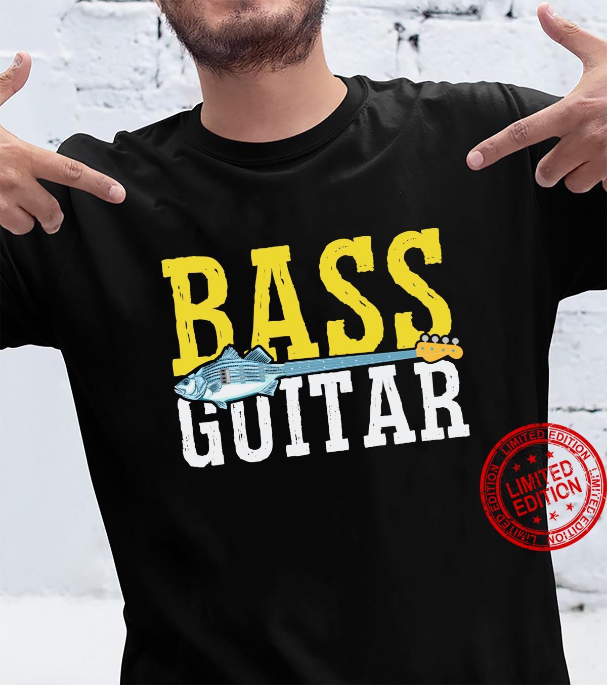 Bass Player Fishing Fisherman Guitar Musician Shirt