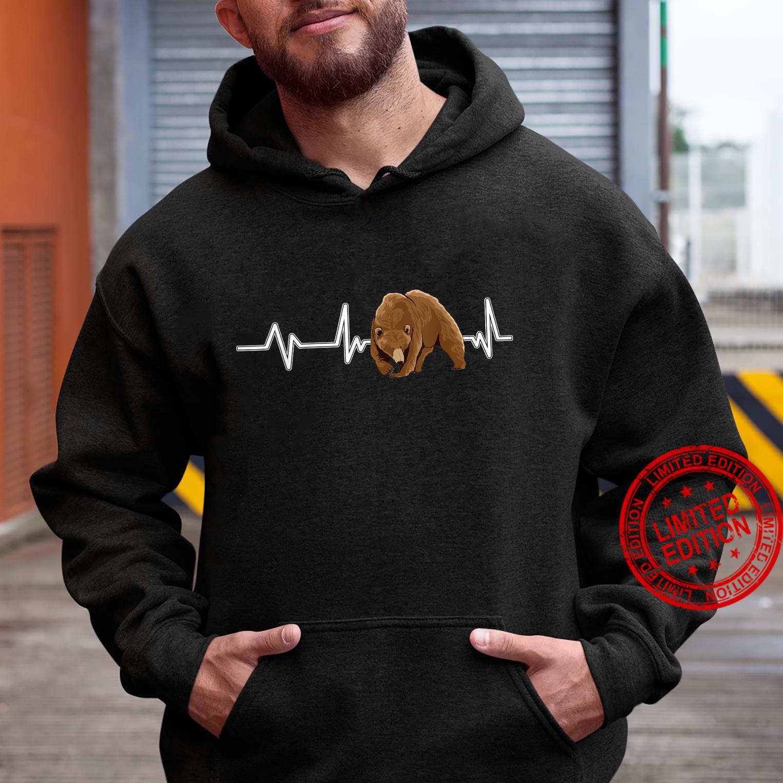 Bear Heartbeat Brown Bear EKG Heart Rate Bears Shirt hoodie