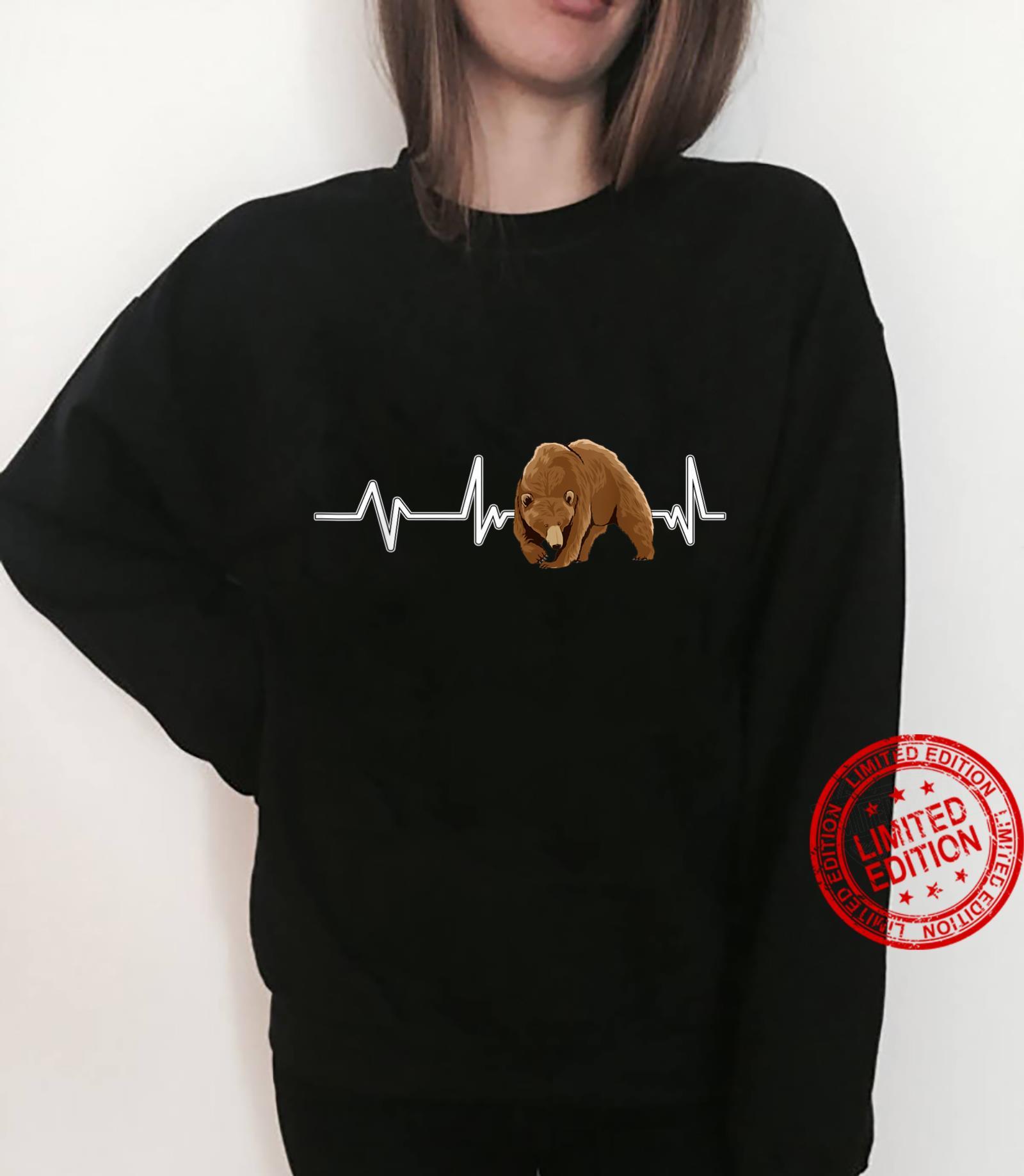 Bear Heartbeat Brown Bear EKG Heart Rate Bears Shirt sweater