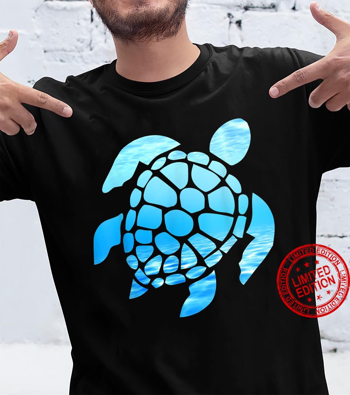 Beautiful Sea Turtle Silhouette, Seen From Underwater Shirt