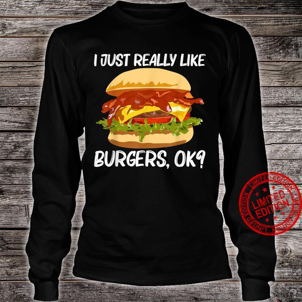 Best Burger Design Hamburger Sandwichs Shirt long sleeved