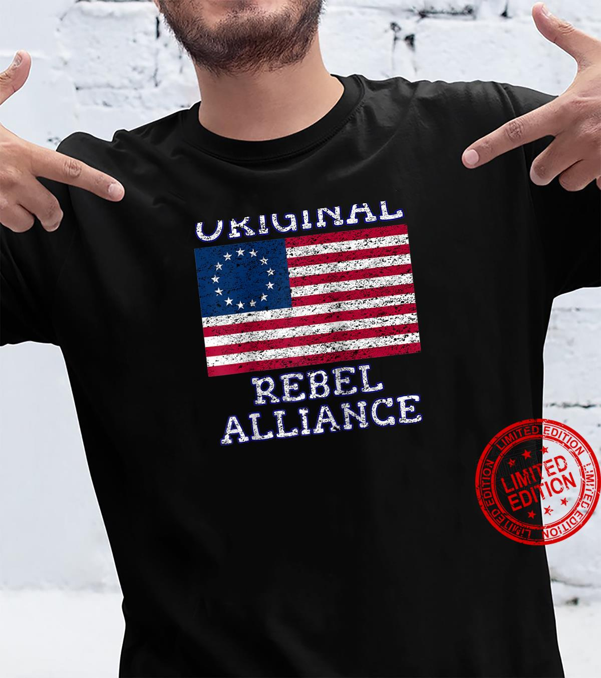 Betsy Ross Rebel July 4th American Pride Flag 1776 Retro Shirt