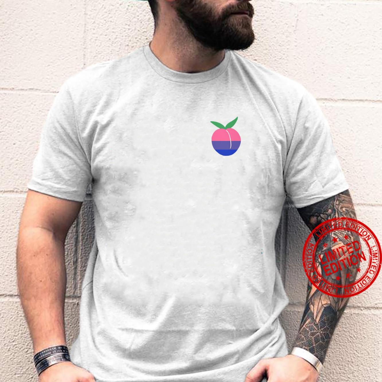 Bisexual Peach LGBTQ Bi Pride Flag Cottagecore Kawaii Fruit Shirt