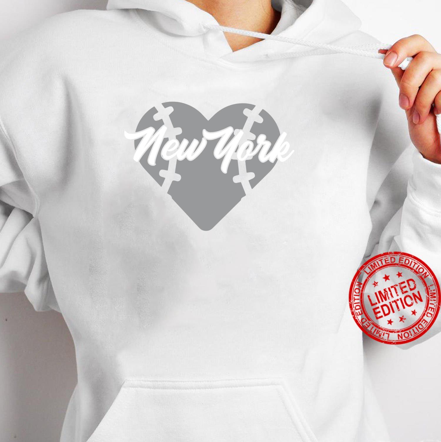 Bronx New York Baseball Heart Script Shirt hoodie