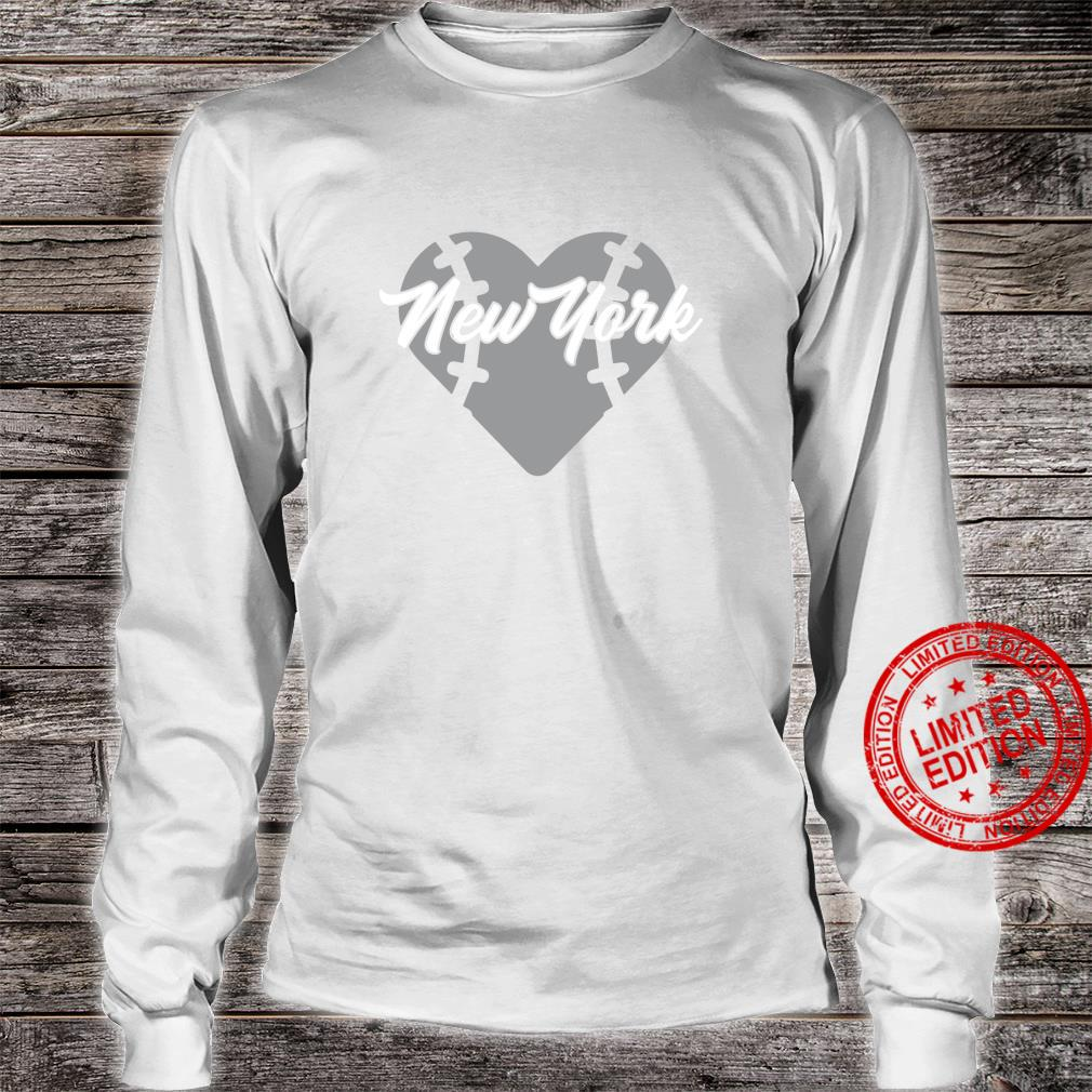 Bronx New York Baseball Heart Script Shirt long sleeved