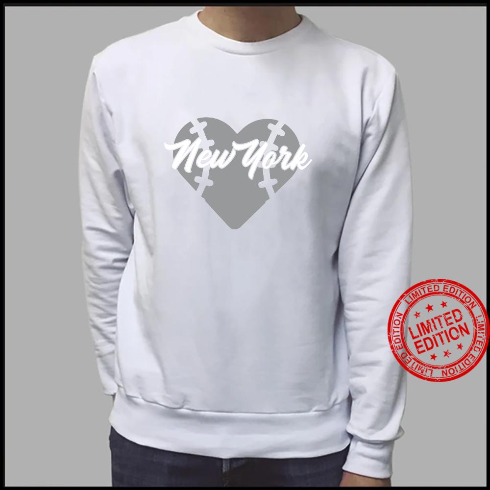 Bronx New York Baseball Heart Script Shirt sweater