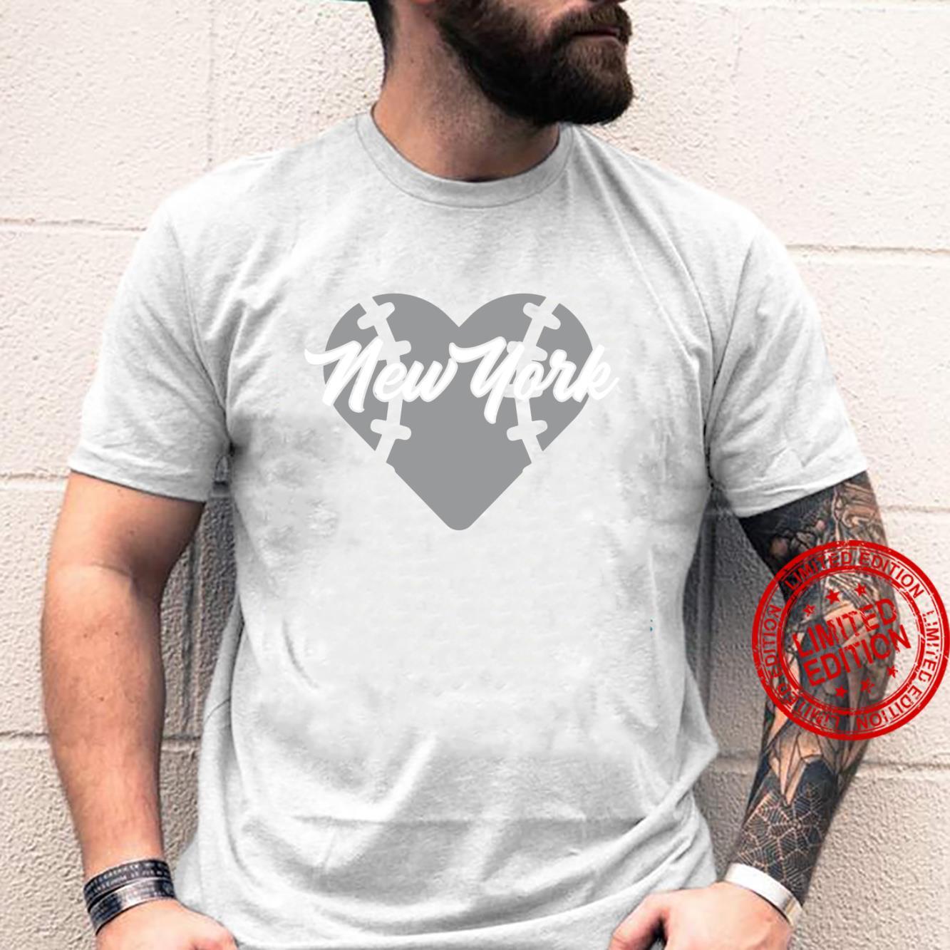 Bronx New York Baseball Heart Script Shirt