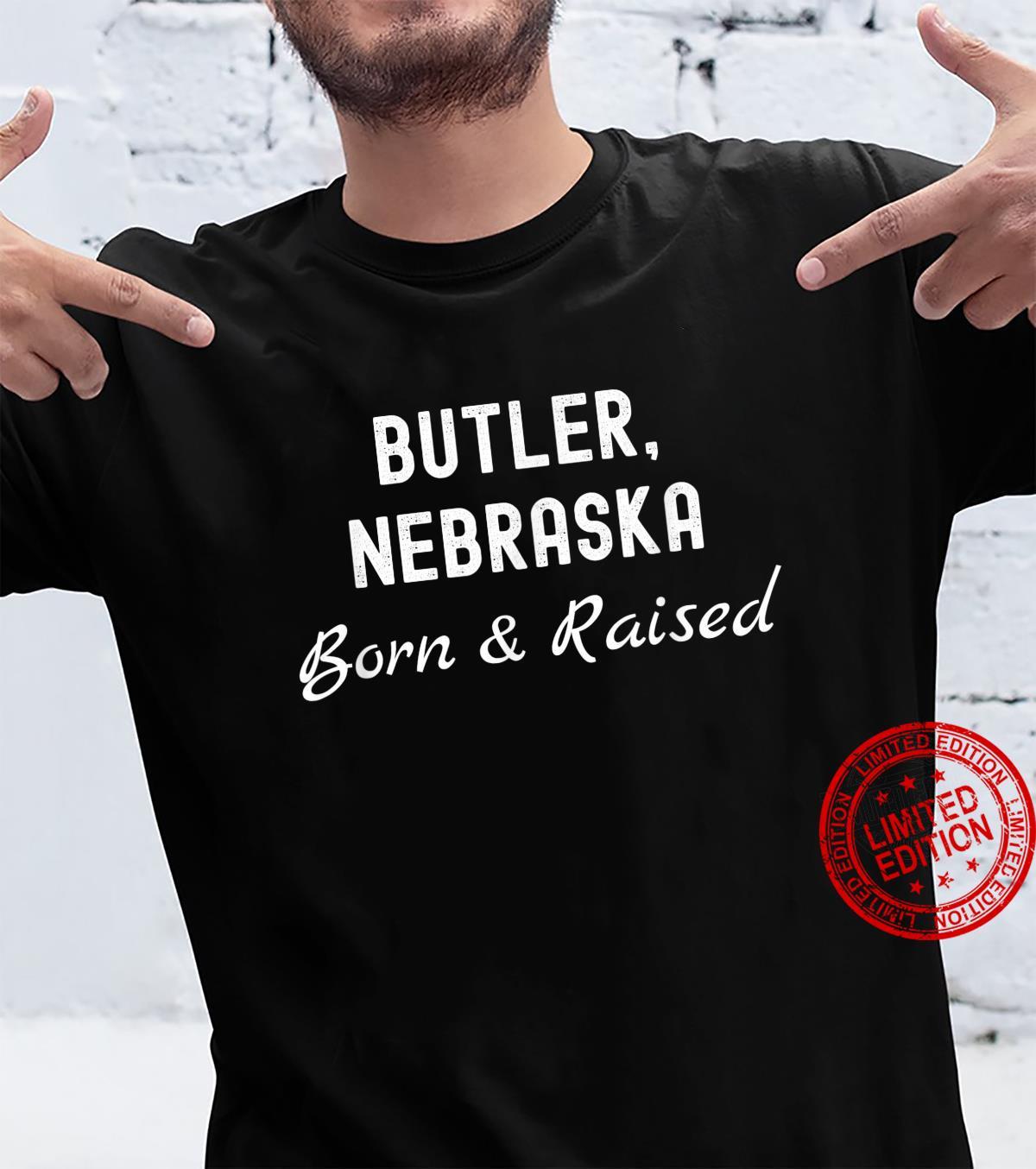 Butler Nebraska Born & Raised Shirt