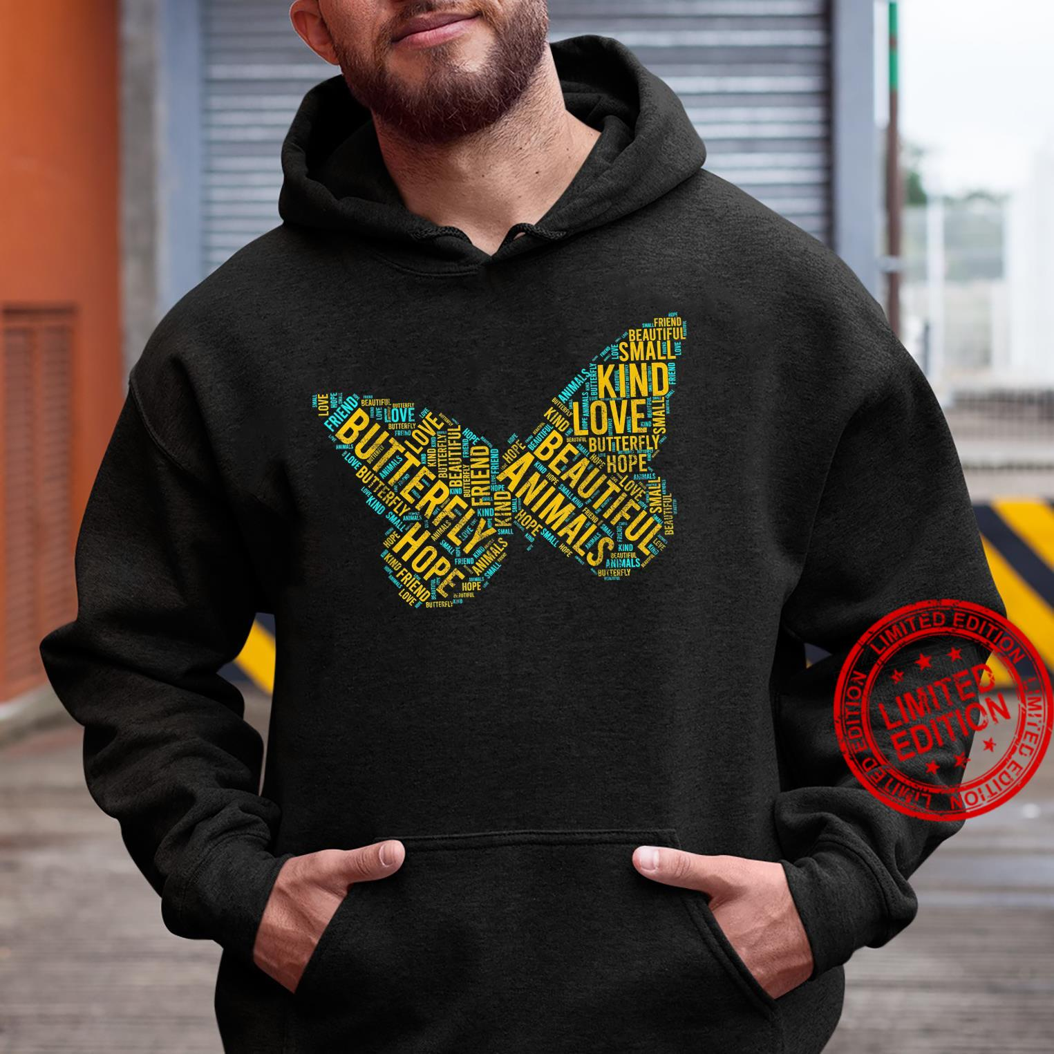 Butterfly In Words Insect lepidopterist Shirt hoodie