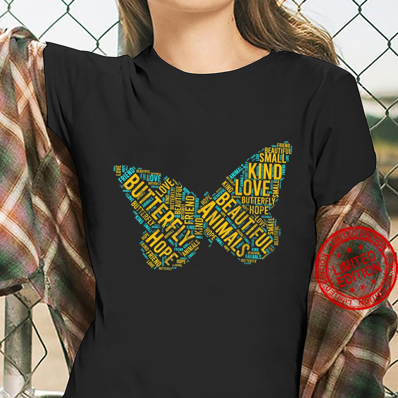 Butterfly In Words Insect lepidopterist Shirt ladies tee