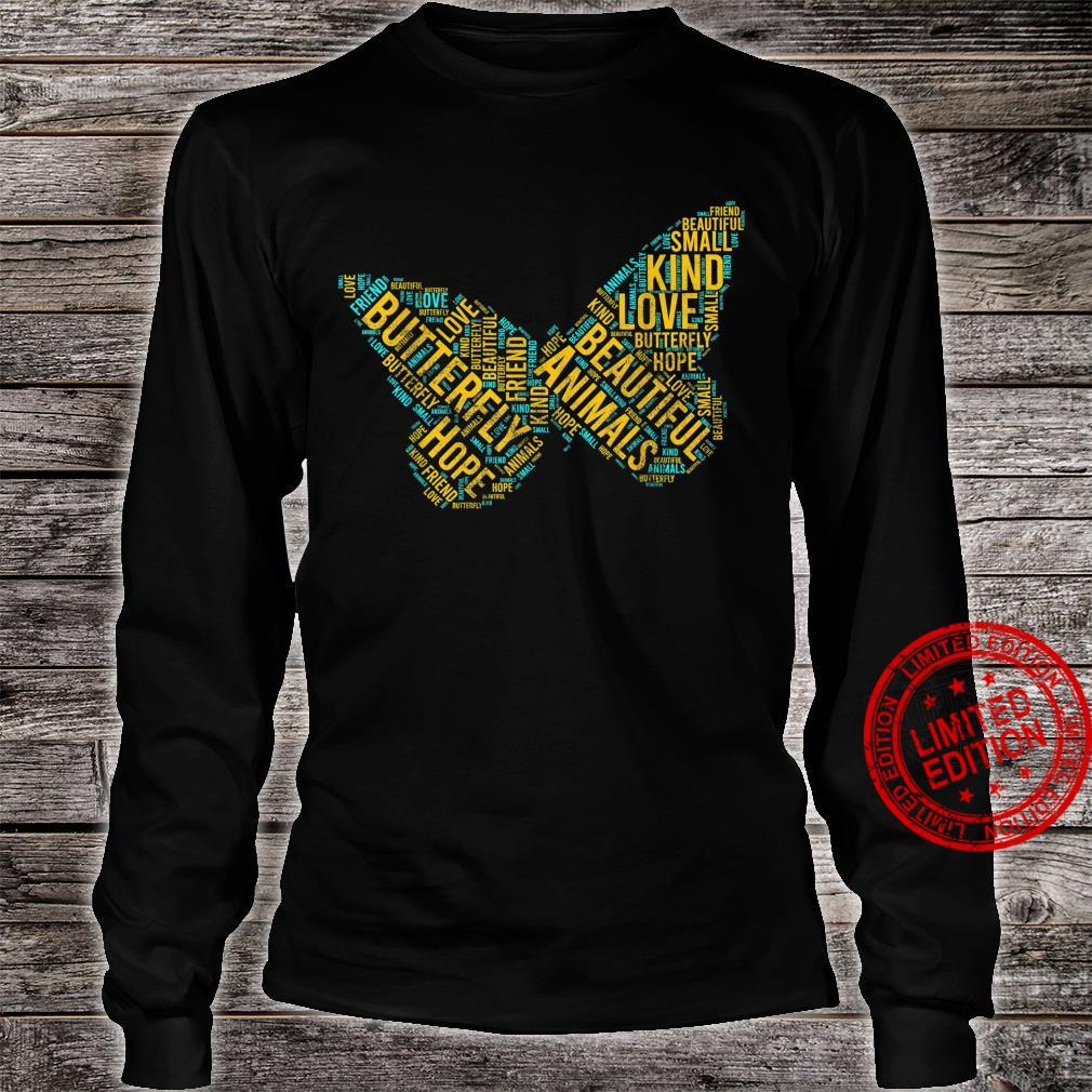 Butterfly In Words Insect lepidopterist Shirt long sleeved