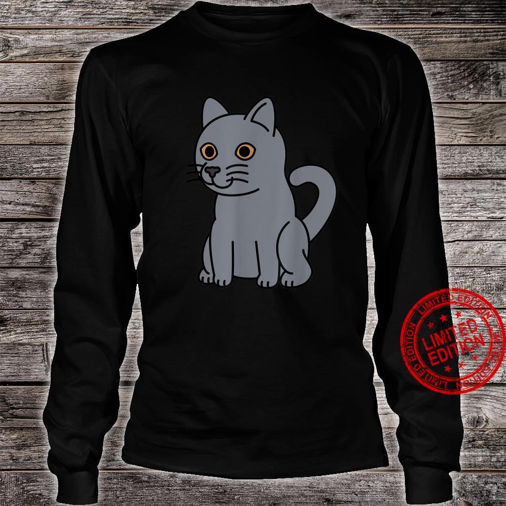 Cartoon British Shorthair Cat Pet Shirt long sleeved