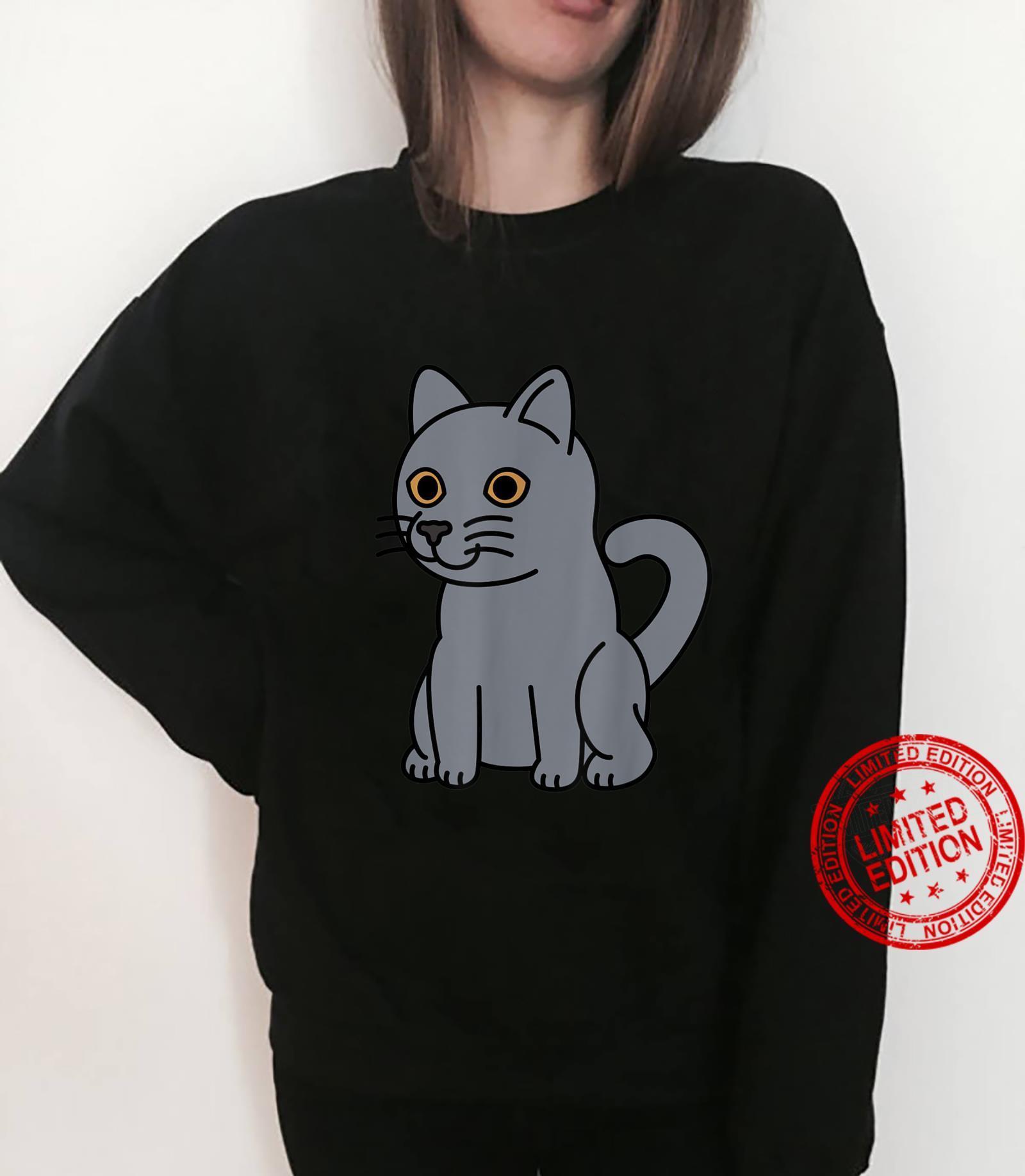 Cartoon British Shorthair Cat Pet Shirt sweater
