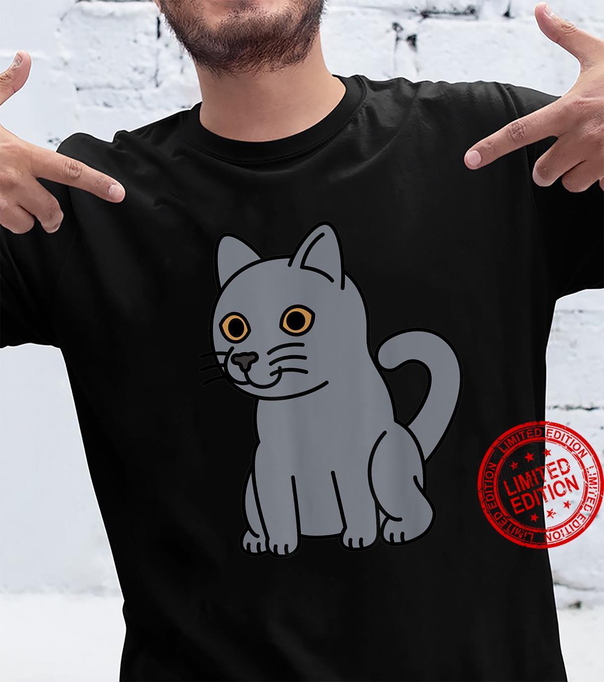 Cartoon British Shorthair Cat Pet Shirt