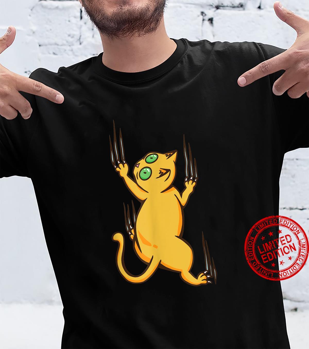 Cat Climbing Scratches Shirt