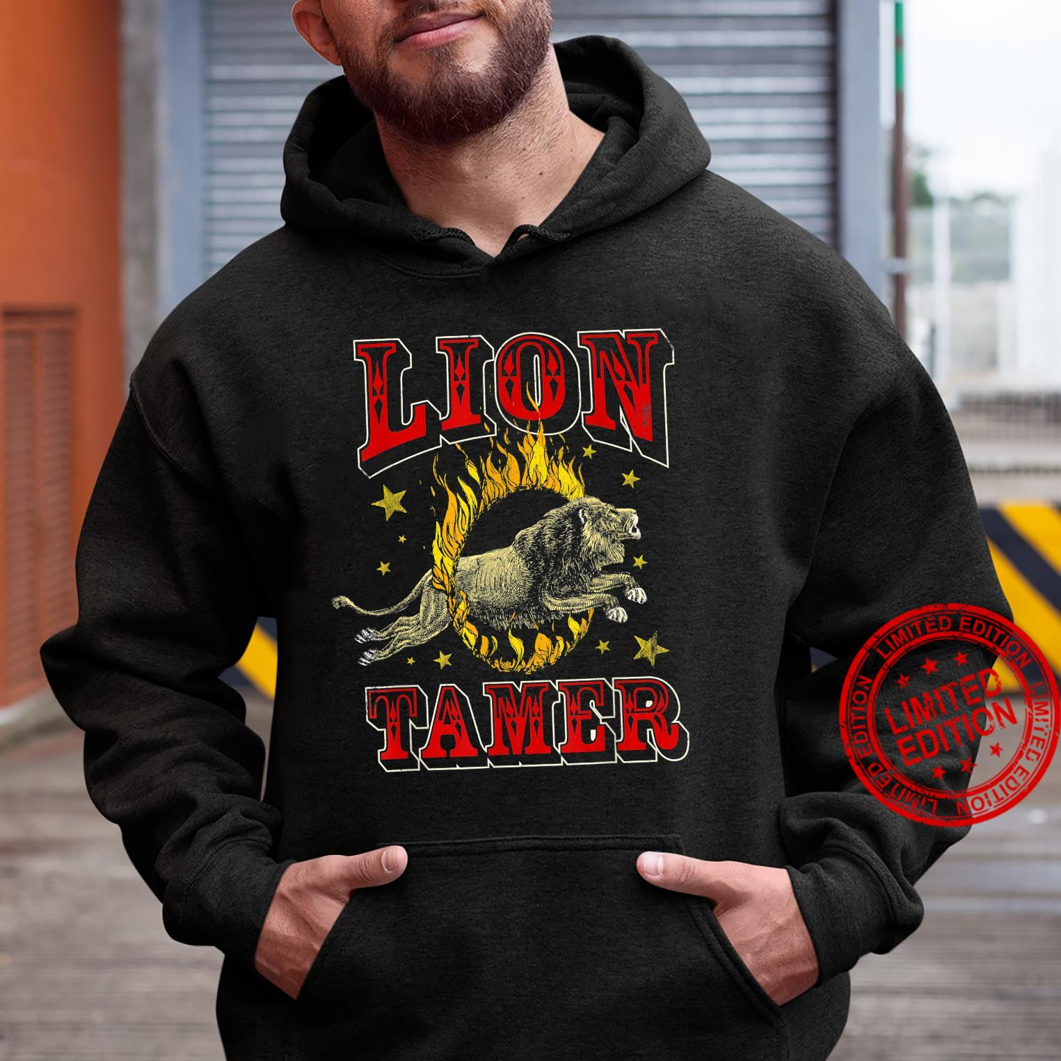 Circus Staff Lion Tamer Vintage Carnival Theme Party Shirt hoodie