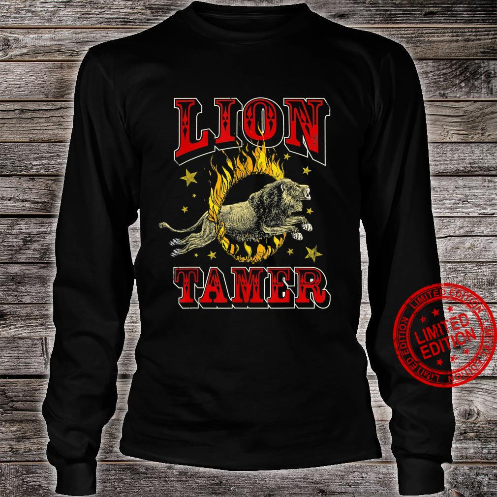 Circus Staff Lion Tamer Vintage Carnival Theme Party Shirt long sleeved