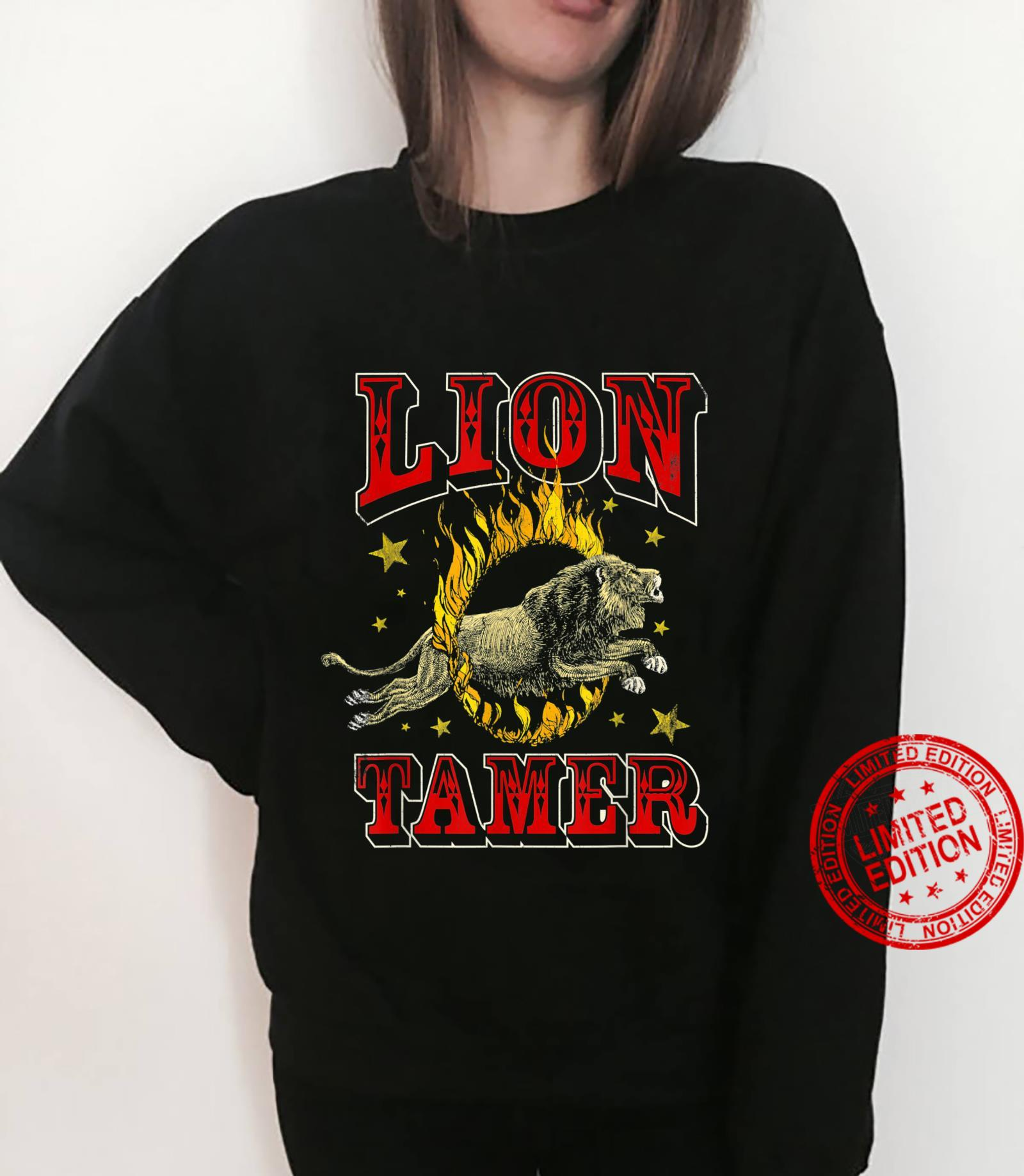 Circus Staff Lion Tamer Vintage Carnival Theme Party Shirt sweater
