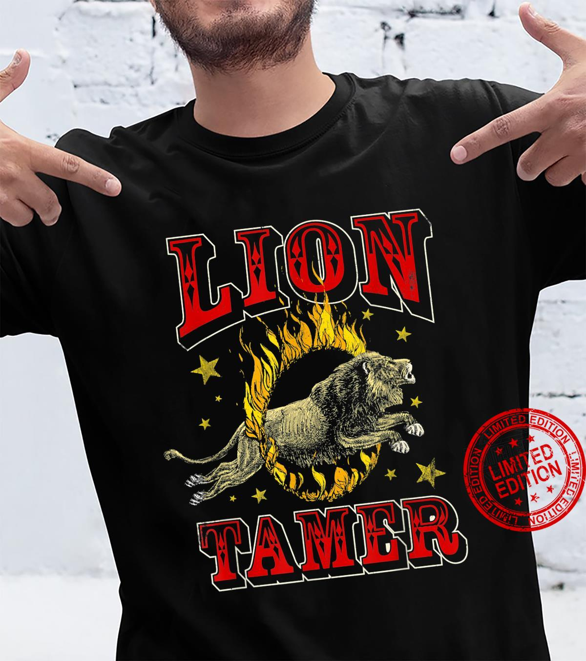 Circus Staff Lion Tamer Vintage Carnival Theme Party Shirt