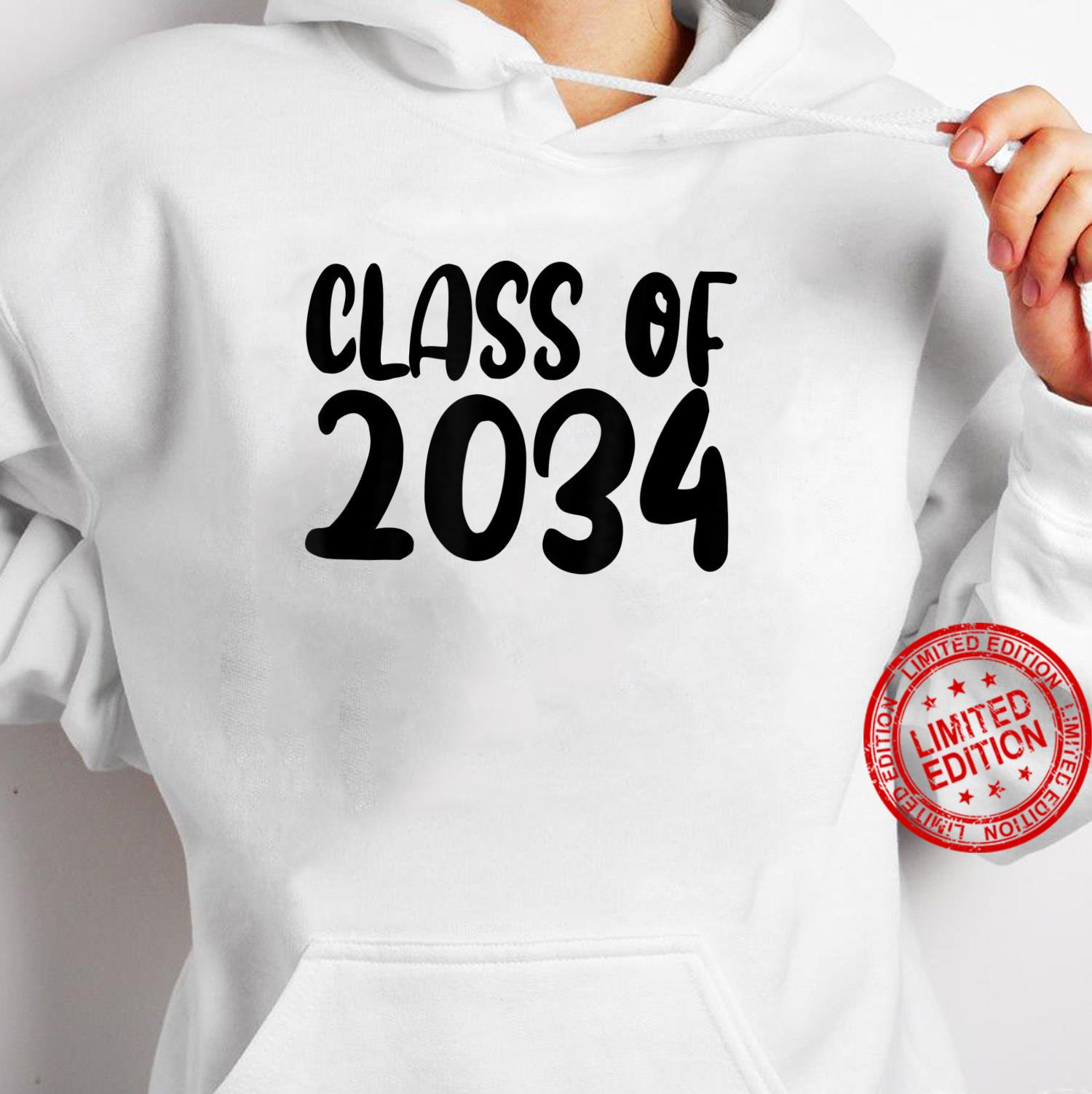 Class Of 2034 Grow With Me Shirt Handprints On Back K To 12 Shirt hoodie