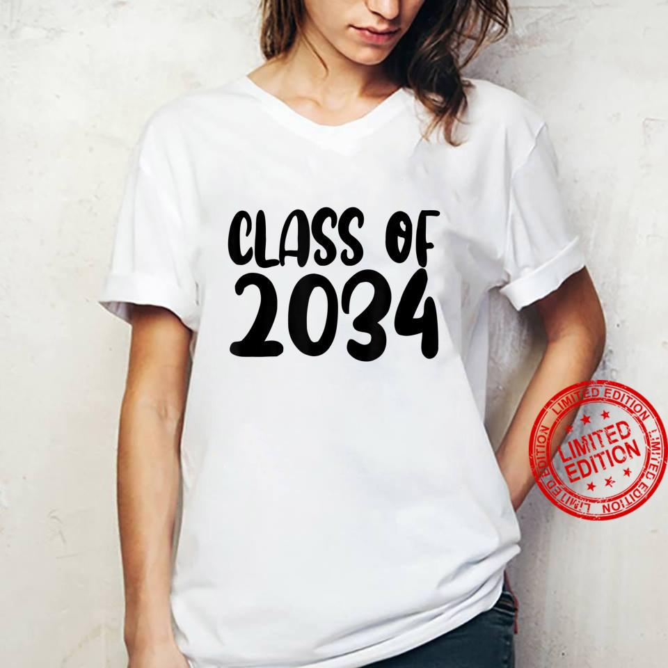 Class Of 2034 Grow With Me Shirt Handprints On Back K To 12 Shirt ladies tee