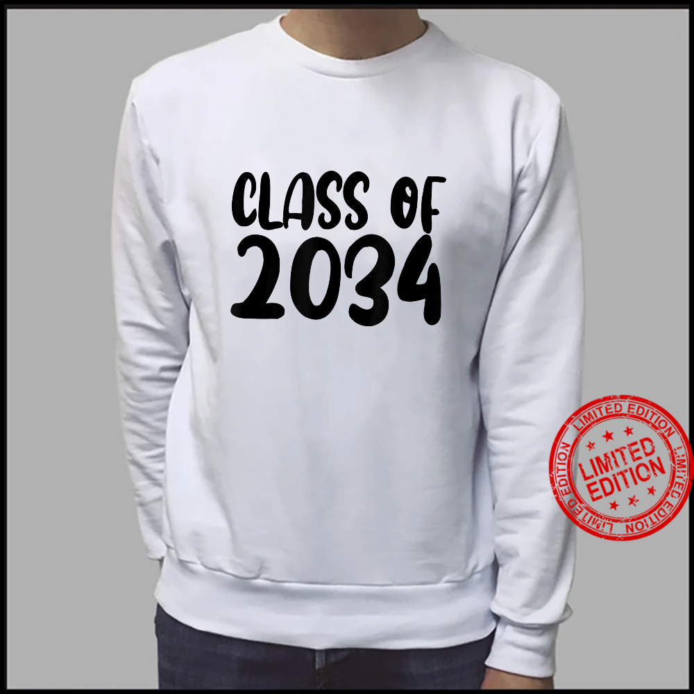Class Of 2034 Grow With Me Shirt Handprints On Back K To 12 Shirt sweater