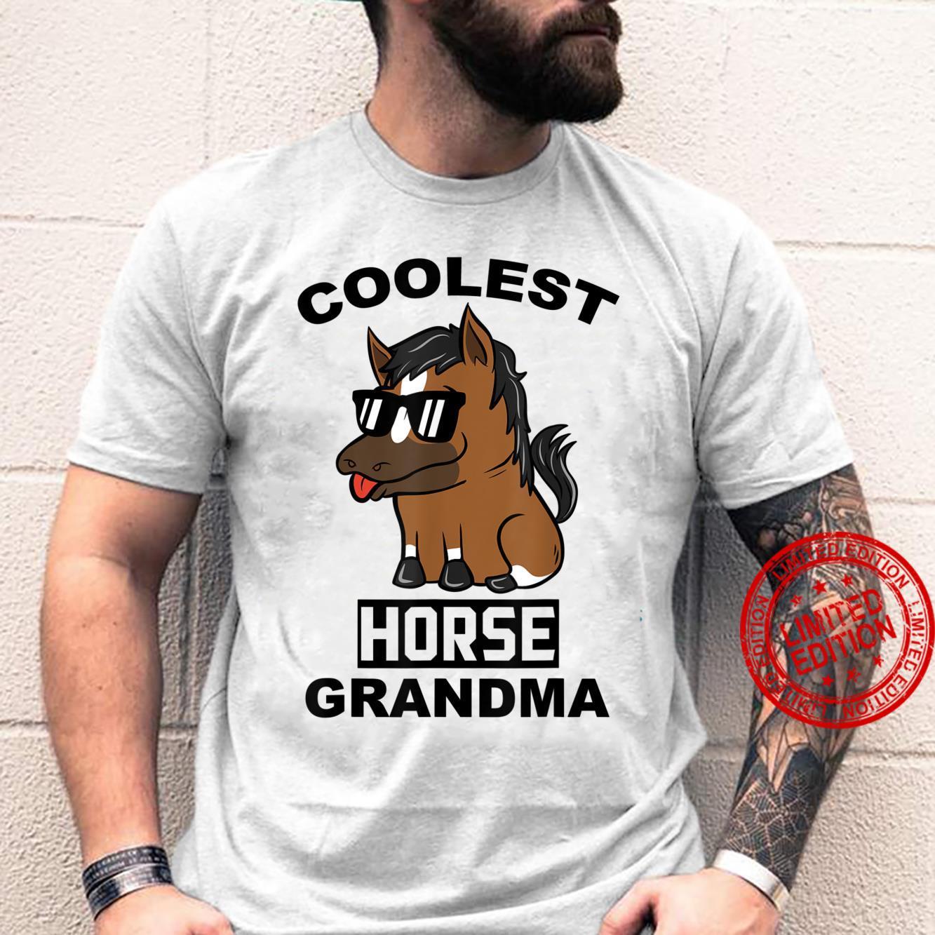 Coolest Horse Grandma Pet Shirt
