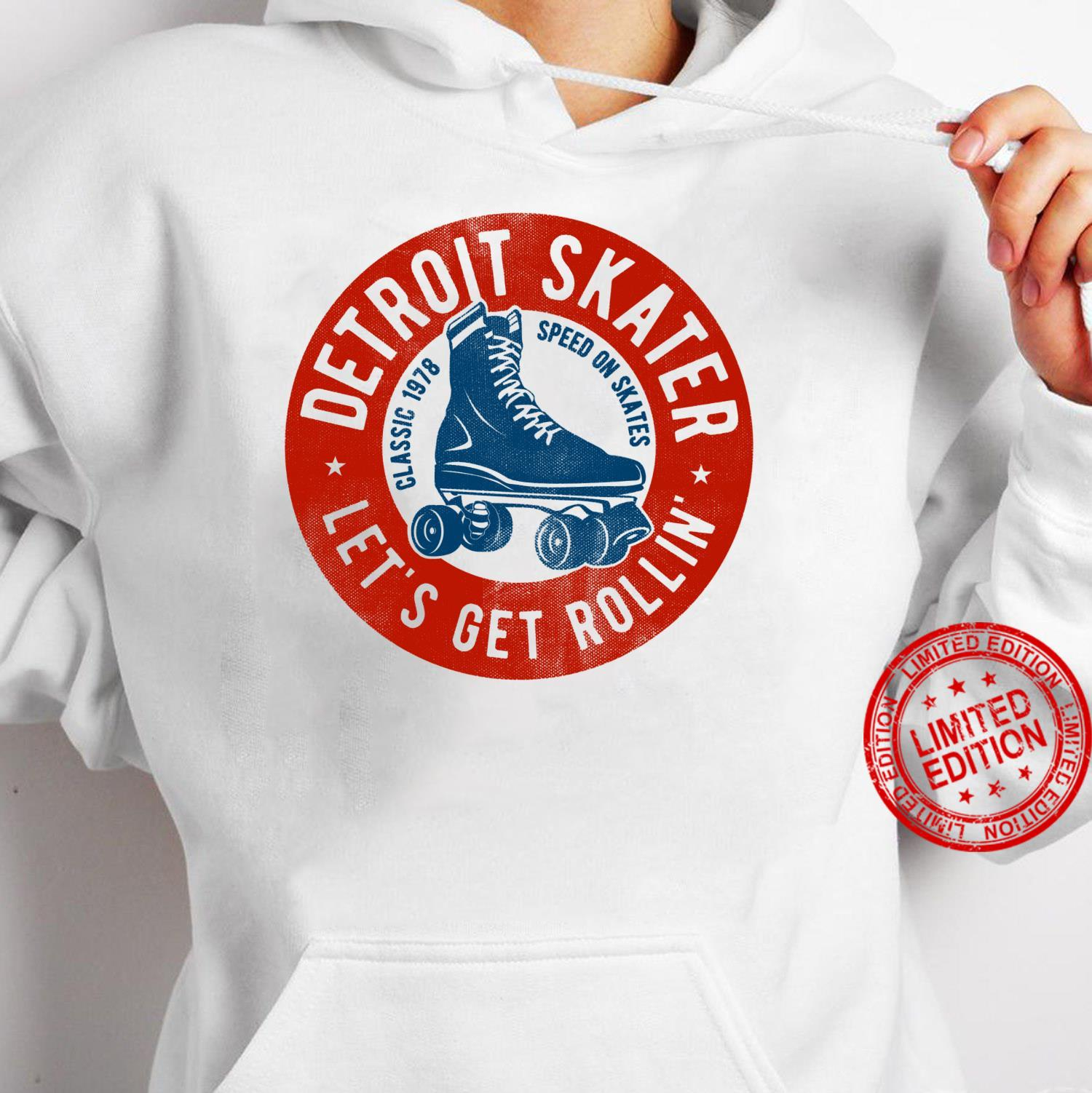 Detroit City Roller Skater gear. Vintage Shirt hoodie