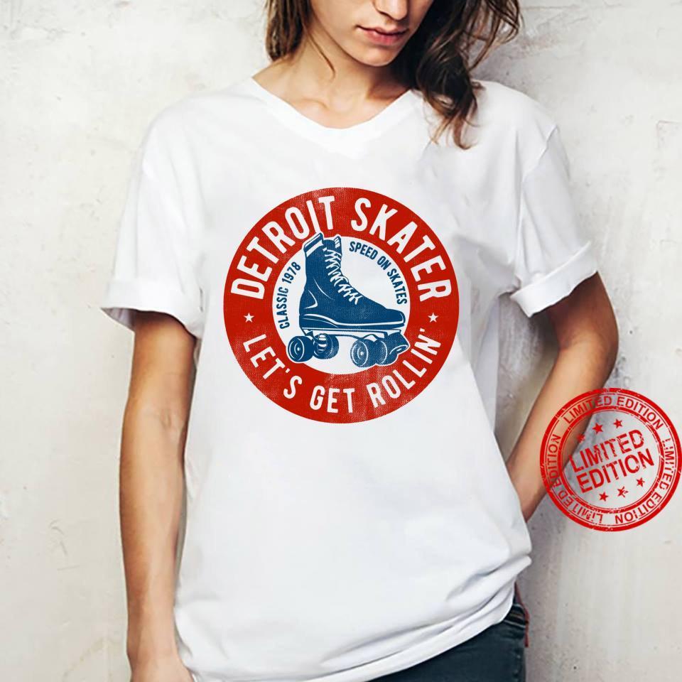 Detroit City Roller Skater gear. Vintage Shirt ladies tee
