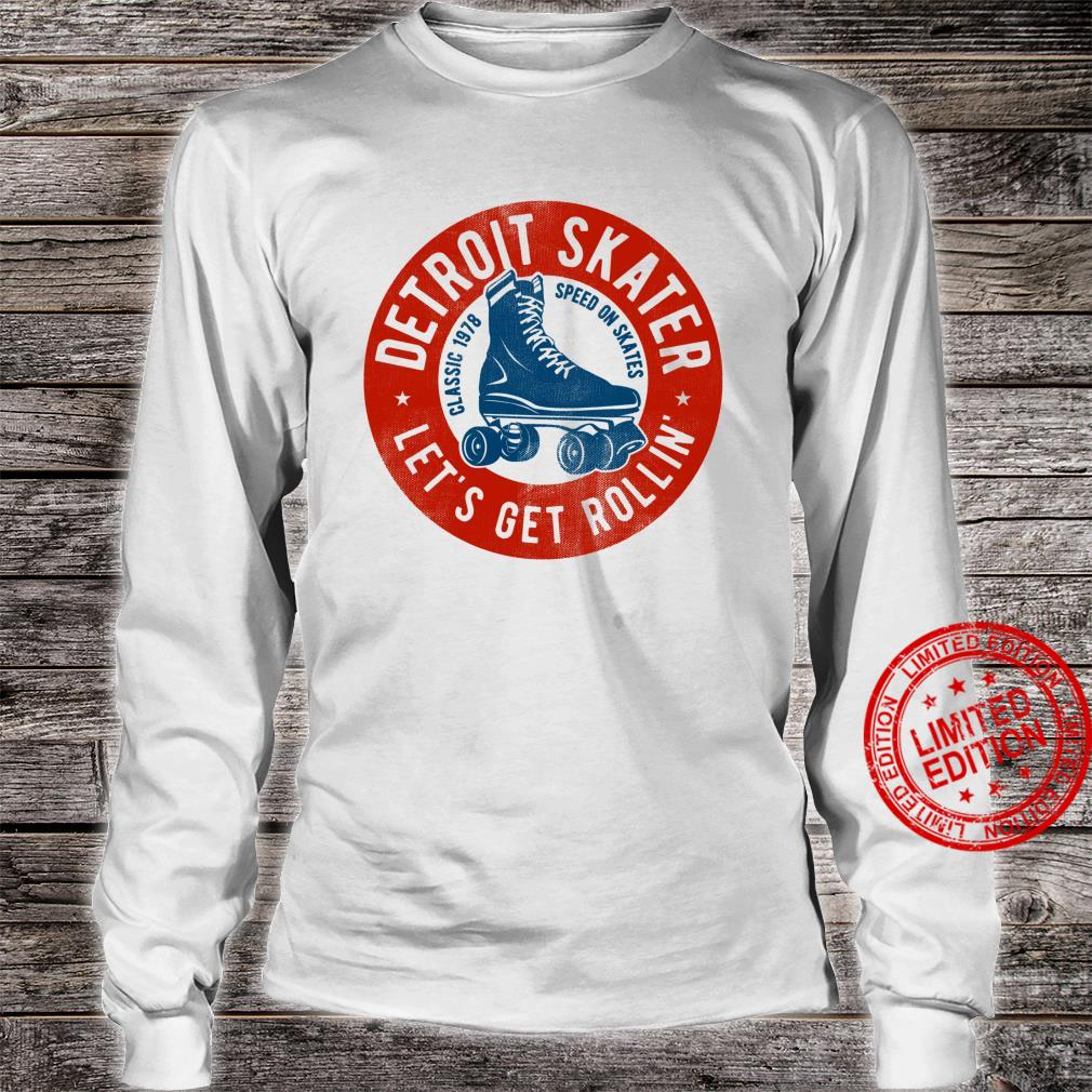Detroit City Roller Skater gear. Vintage Shirt long sleeved