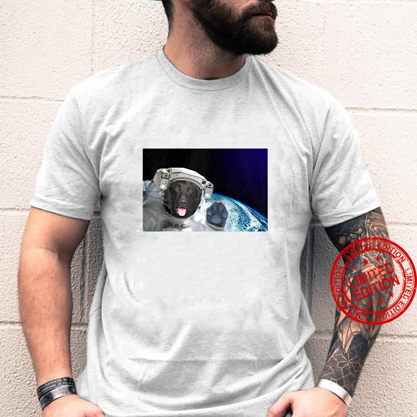 Dog in Space Retriever CurlyCoated Shirt