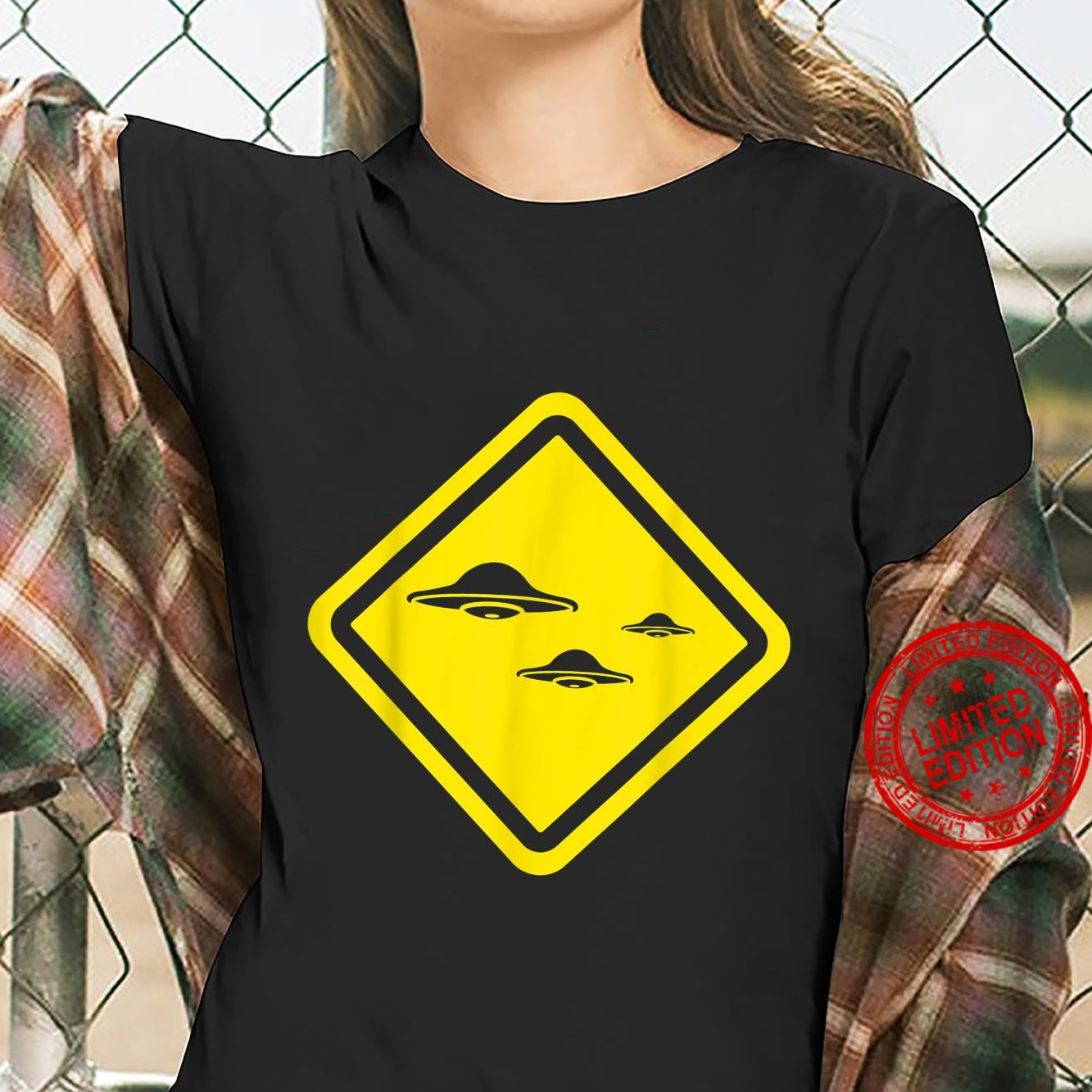 Flying Saucers Alien Enthusiast Idea UFO Believer Shirt ladies tee