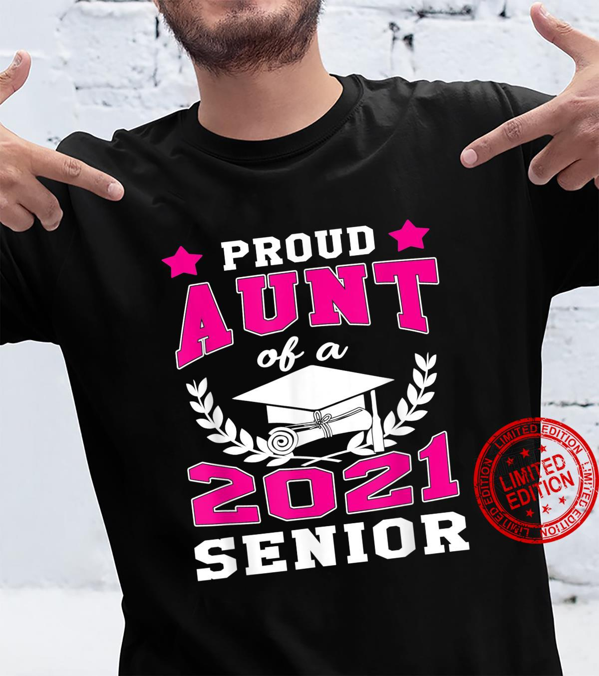 Funny Proud Aunt Of A Class 2021 Senior School Graduation Shirt