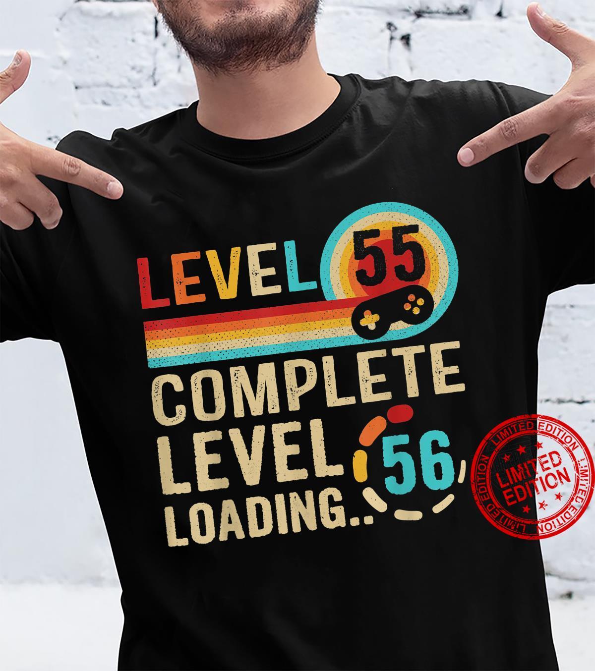 Gamer 55th Birthday Level 55 Complete Level 56 Loading Shirt