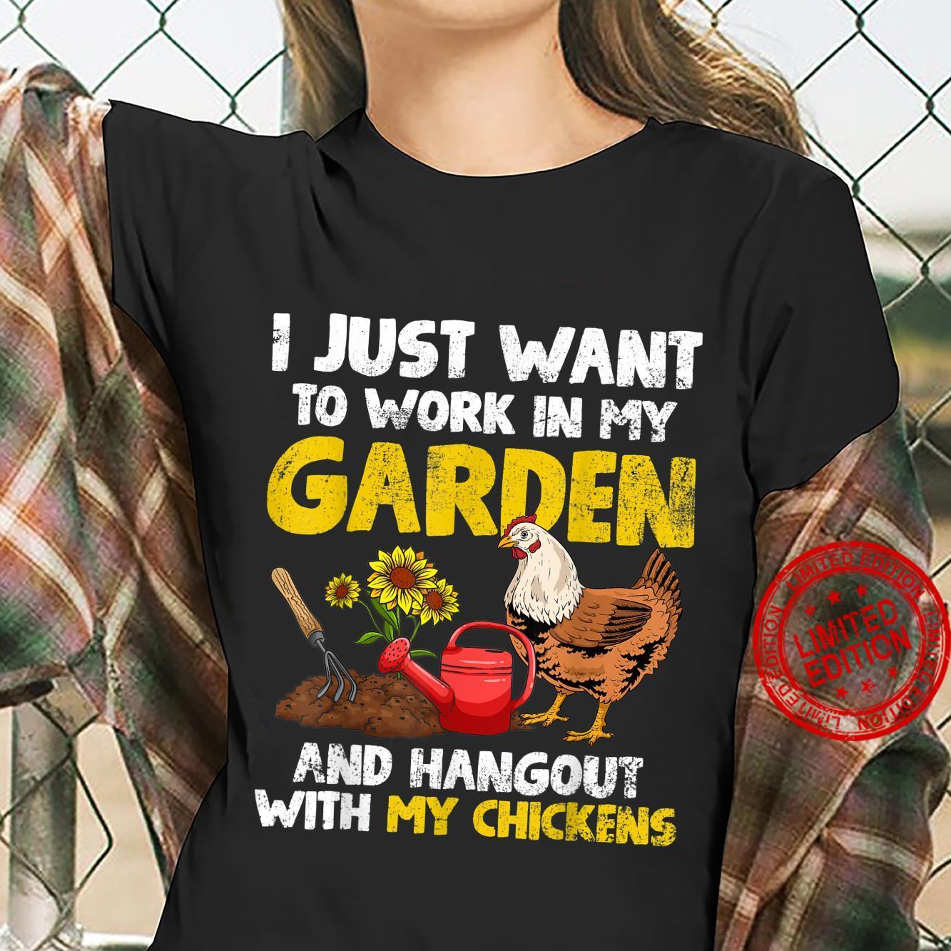 Gardening Gardener Chickens Chicken Chicken Owner Shirt ladies tee
