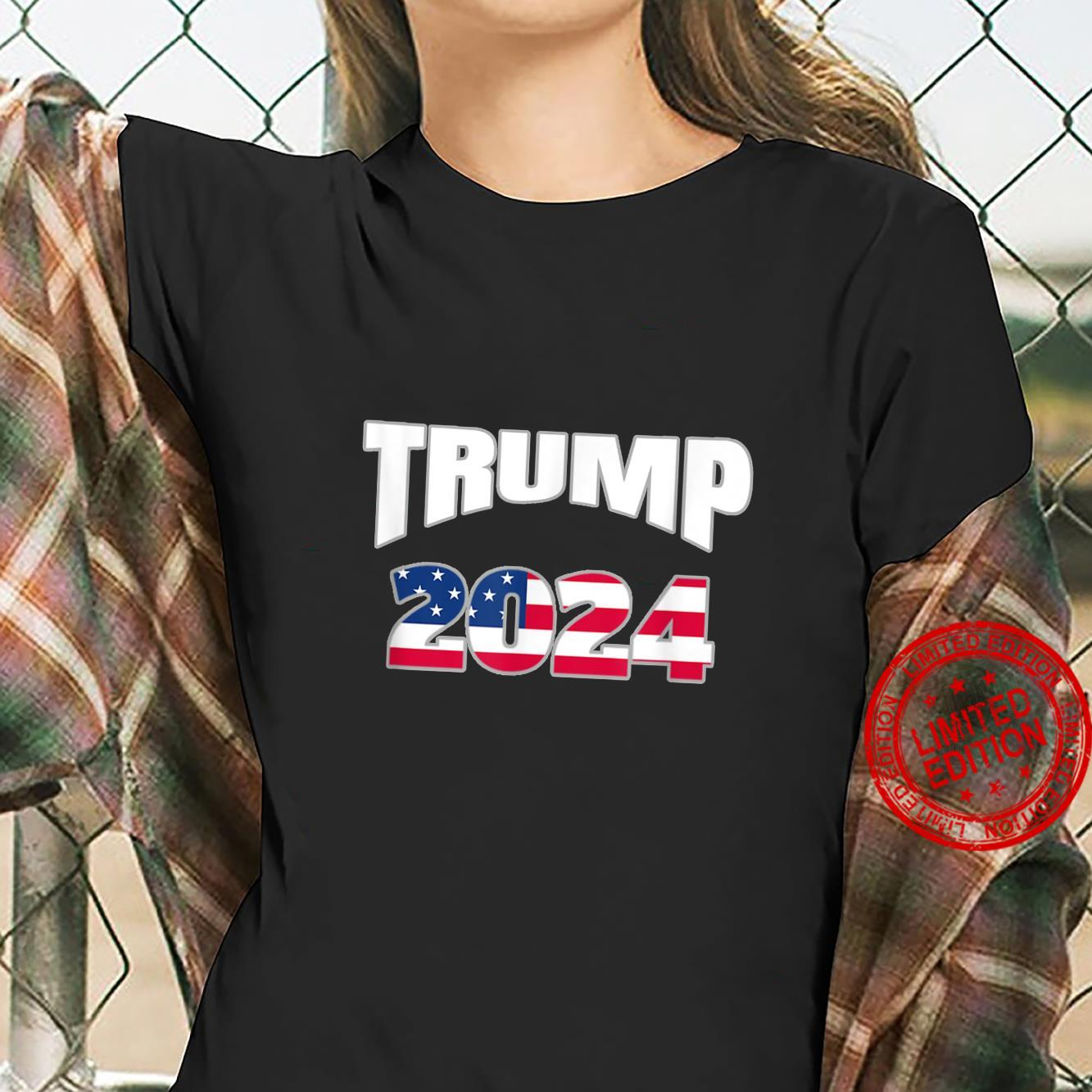 Get out the vote TRUMP 2024. America votes. Election Shirt ladies tee