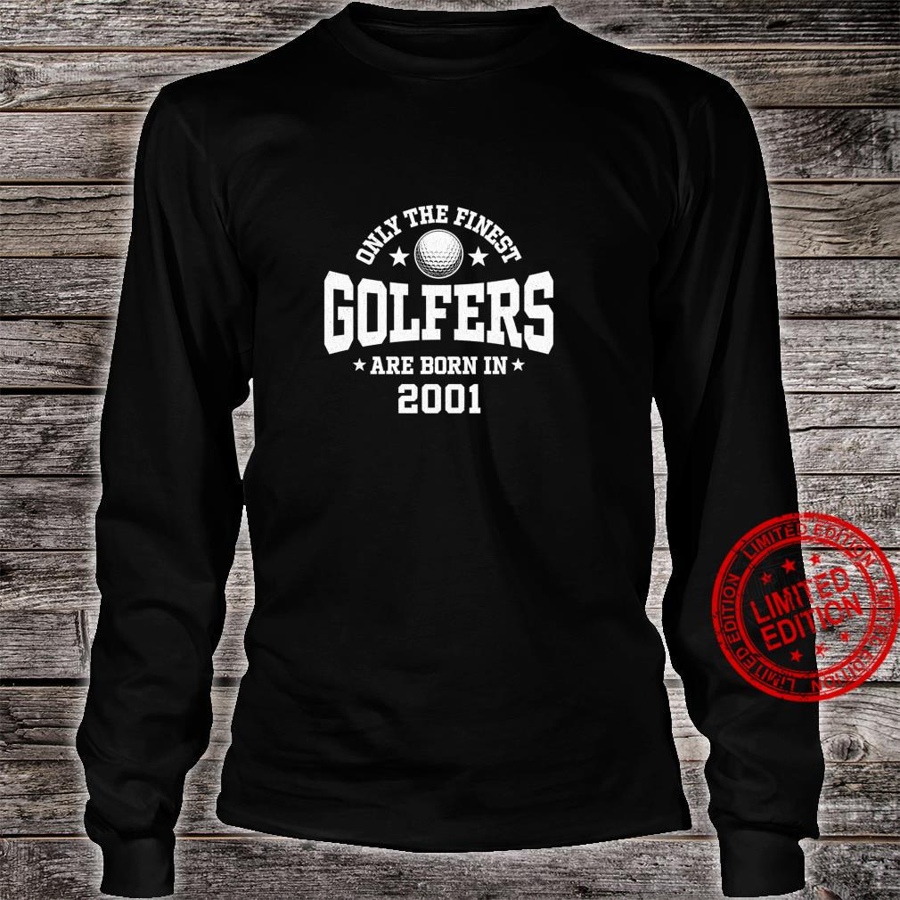Gift for 20 Year Old Golfer Golfing 2001 20th Birthday Shirt long sleeved