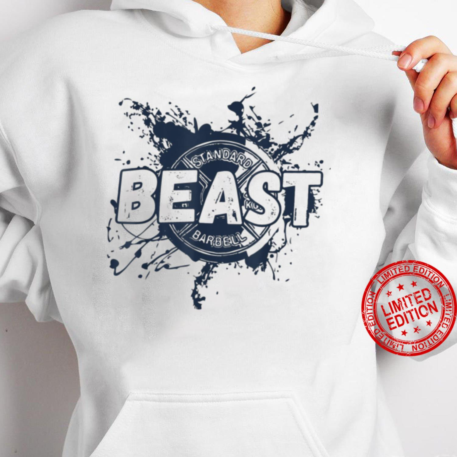 Gym Beast Barbell Workout Fitness Plate Shirt hoodie
