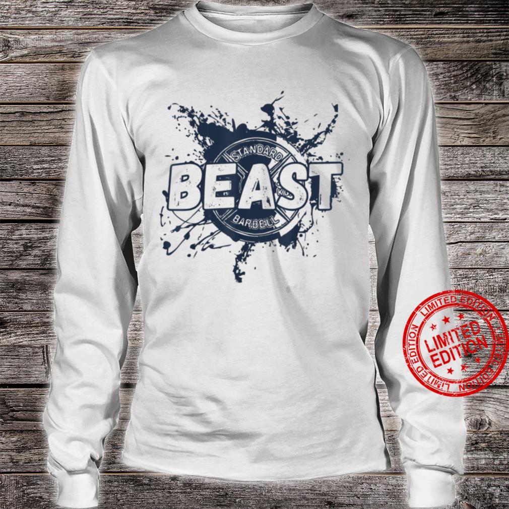 Gym Beast Barbell Workout Fitness Plate Shirt long sleeved