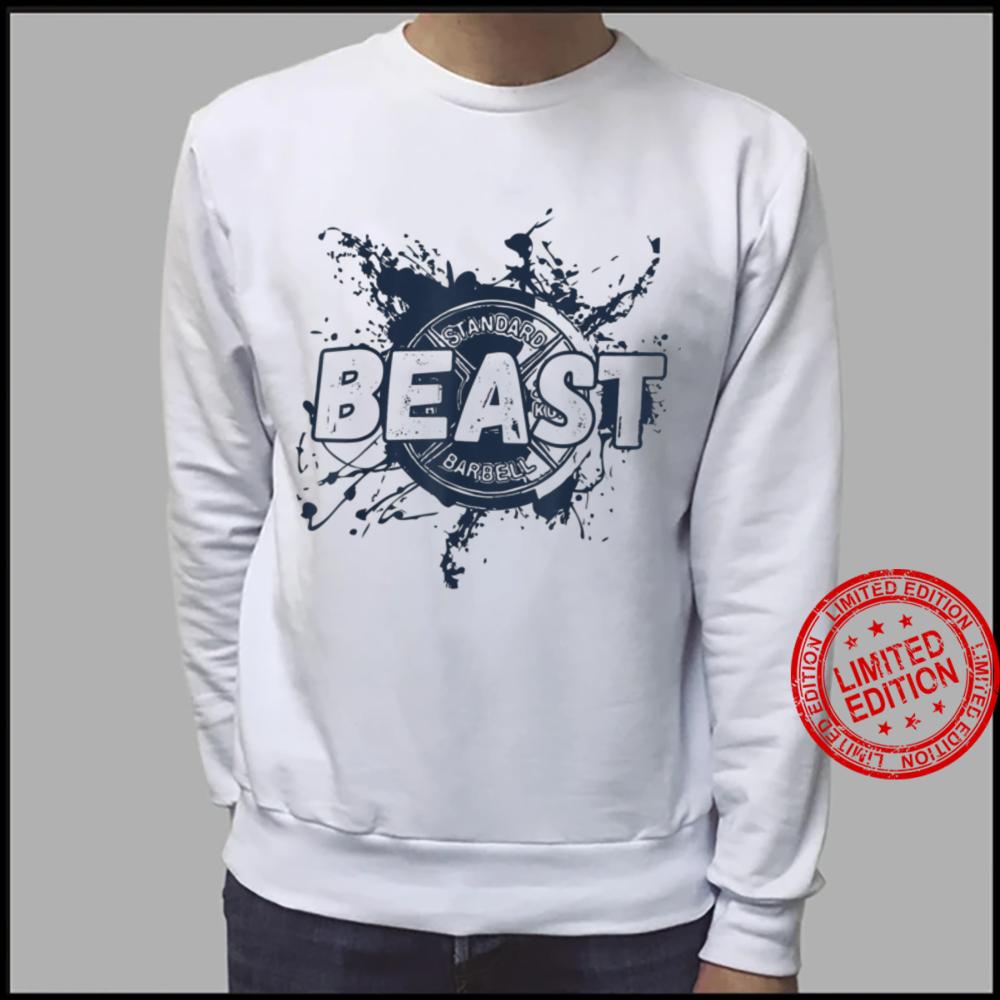 Gym Beast Barbell Workout Fitness Plate Shirt sweater