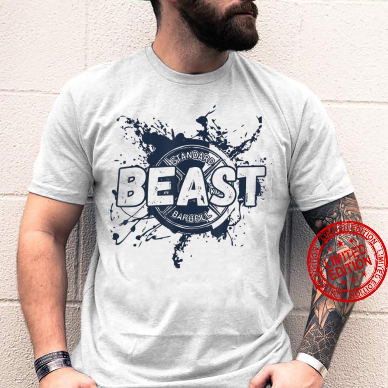 Gym Beast Barbell Workout Fitness Plate Shirt
