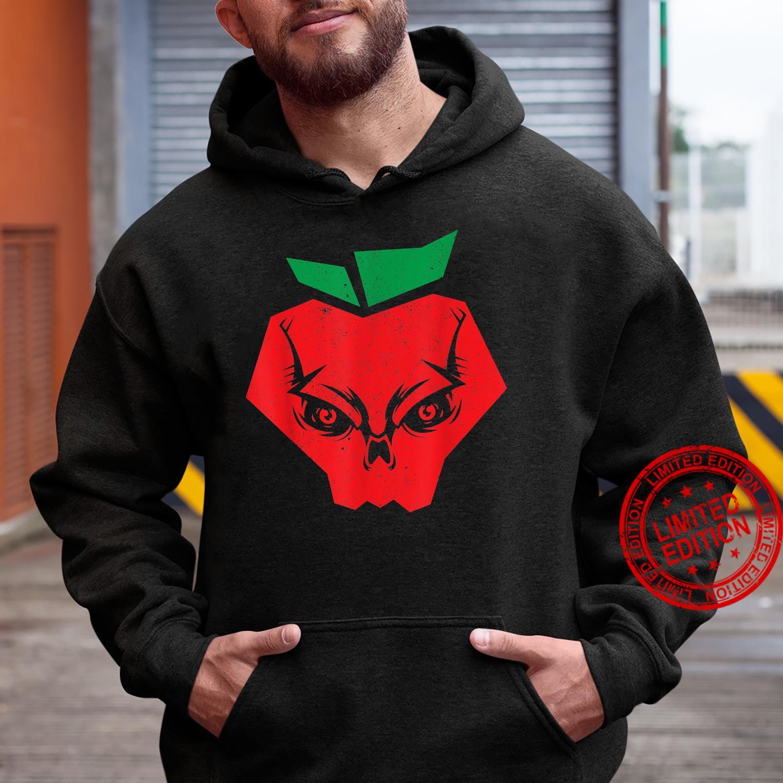 Halloween Apples Skeleton Red Apple Skull Bloodiness Shirt hoodie