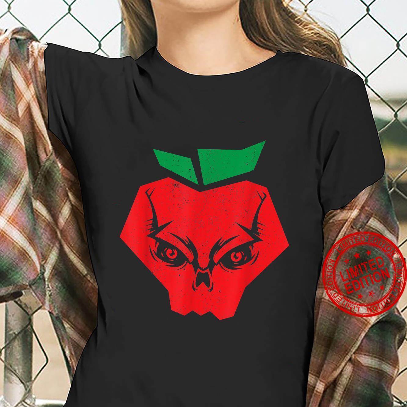 Halloween Apples Skeleton Red Apple Skull Bloodiness Shirt ladies tee