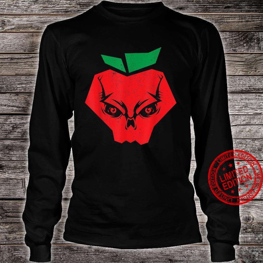 Halloween Apples Skeleton Red Apple Skull Bloodiness Shirt long sleeved