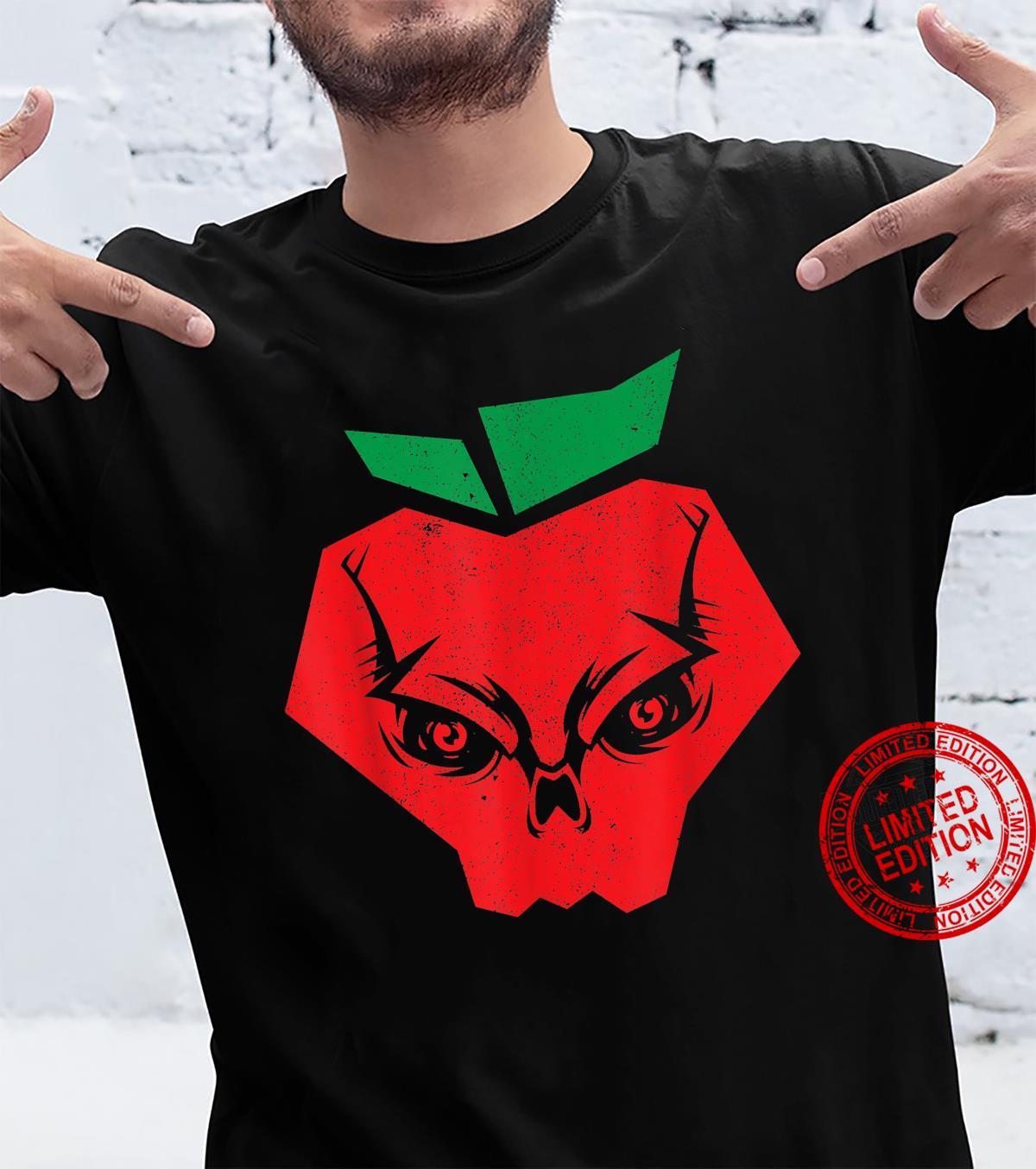 Halloween Apples Skeleton Red Apple Skull Bloodiness Shirt