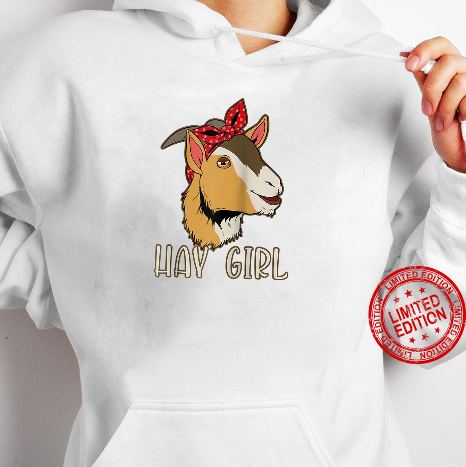 Hay Girl Goat Shirt hoodie