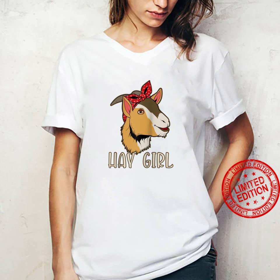 Hay Girl Goat Shirt ladies tee