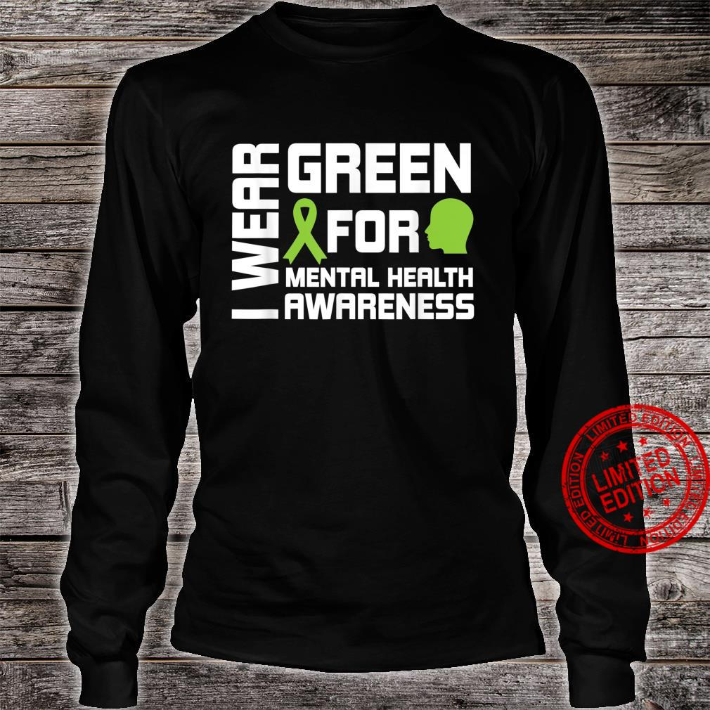 I Wear Greental Health Awareness Shirt long sleeved